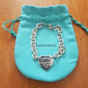 Authentic Tiffany's Heart Tag Bracelet